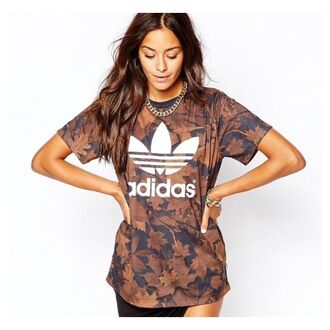shirt camouflage leaves adidas adidas t-shirt leaf print adidas originals