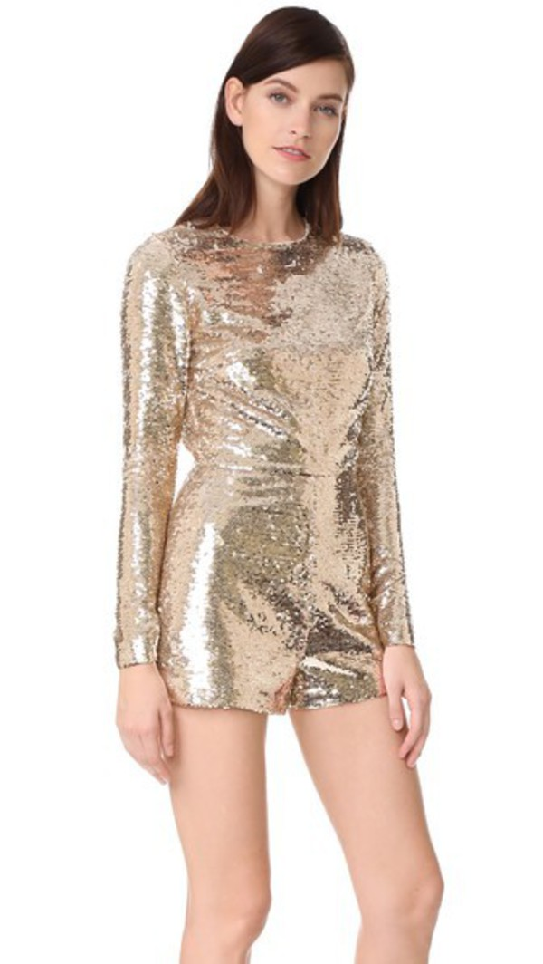 e5c6ad04d238 SHOWPO Slow Motion playsuit in gold sequin - Wheretoget