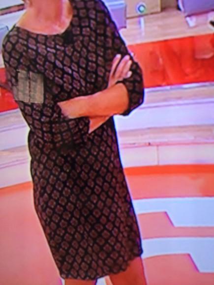 dress tv show pattern knee length dress