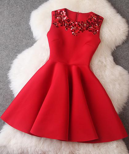 #509 beading christmas dress