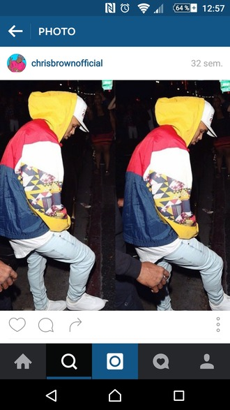 jacket multicolor chris brown veste