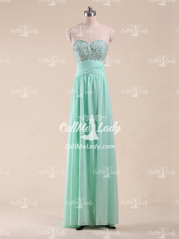 Beading sweetheart sleeveless long dresses for special occasions - CallMeLady