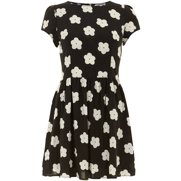 Alice & You Black daisy print tee dress - Polyvore