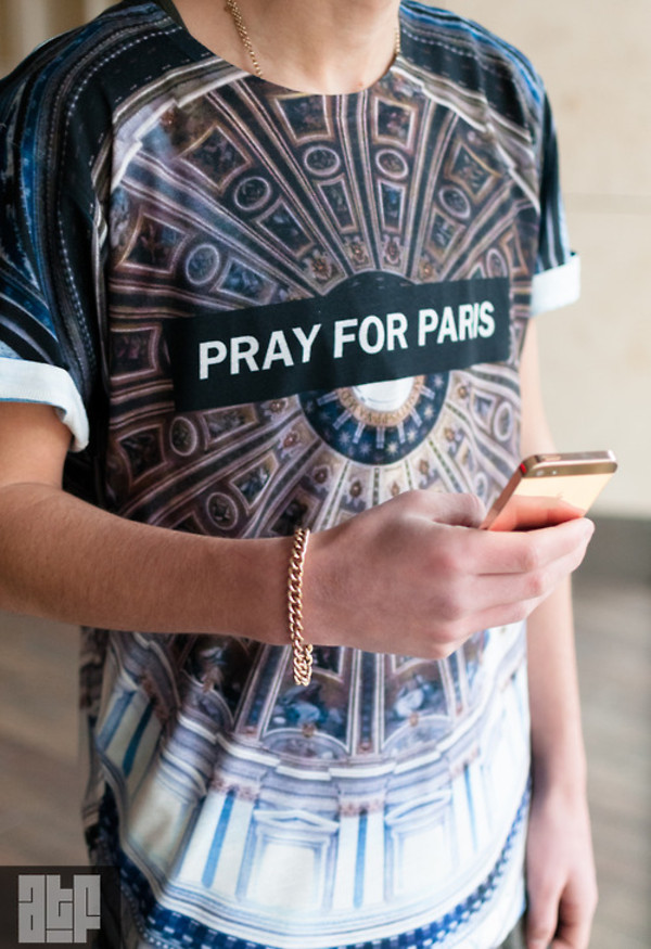 shirt pray pray for paris fashion brand