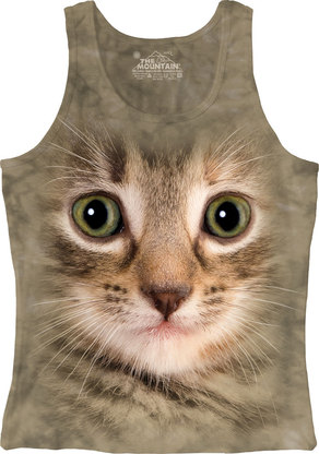 Kitten Face Junior Tank Top