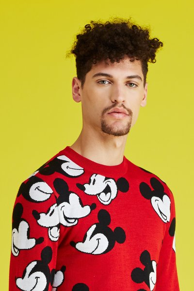 Mickey mouse / opening ceremony steamboat willie face off sweater