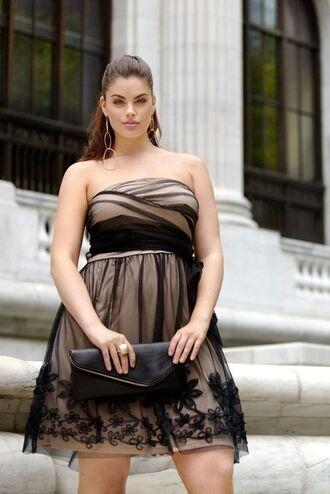 dress chloe marshall model curvy plus size prom dress lace dress a line dress black dress short dress bag black bag hairstyles