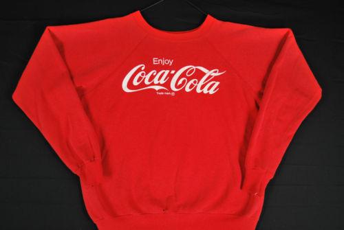 Vtg 80s Enjoy Coca Cola Sweatshirt Crewneck Mens XL Hipster Acrylic Soft | eBay