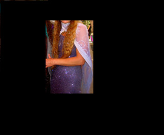 dress magic cosmic purple glitter