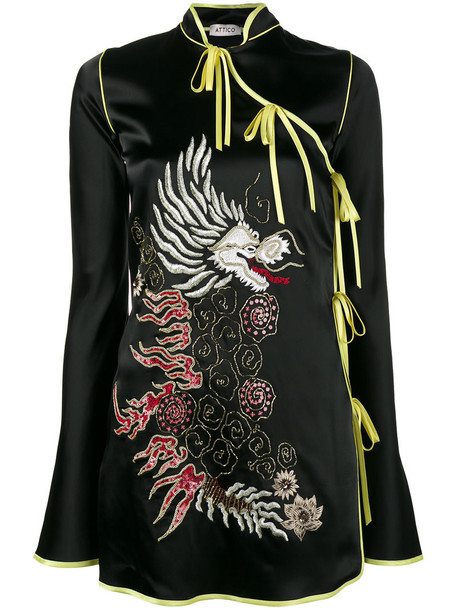 dress wrap dress women spandex embellished black satin