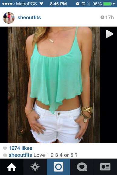 flowy blue shirt light blue tank top crop tops