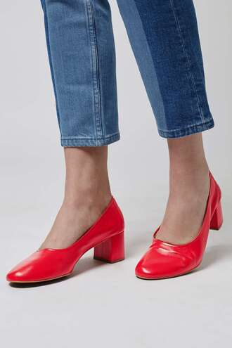 shoes red shoes ballet flats