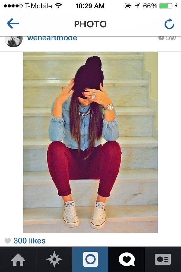 jeans blouse jean blouse shoes pants skinny pants hat swag girly shirt