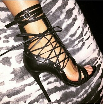 black heels lace up high heels fashionista shoes black heels strap caged caged heels black gladiator heels heels lace up heels high heel sandals black sandals