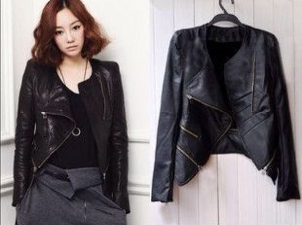Girly Black Leather Jacket - Shop for Girly Black Leather Jacket ...