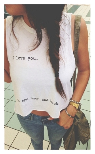 top i love you to the moon and back i love you to the moon and back shirt crop tops crop t-shirt tee blogger blogger trend tumblr tumblr girl tumblr clothes tumblr shirt