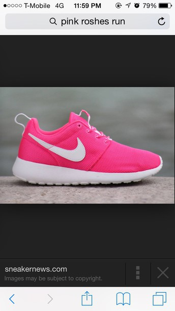 shoes hot pink nike nik roshe runs pink pink shoes roshe runs roshes nike shoes neon nike running shoes
