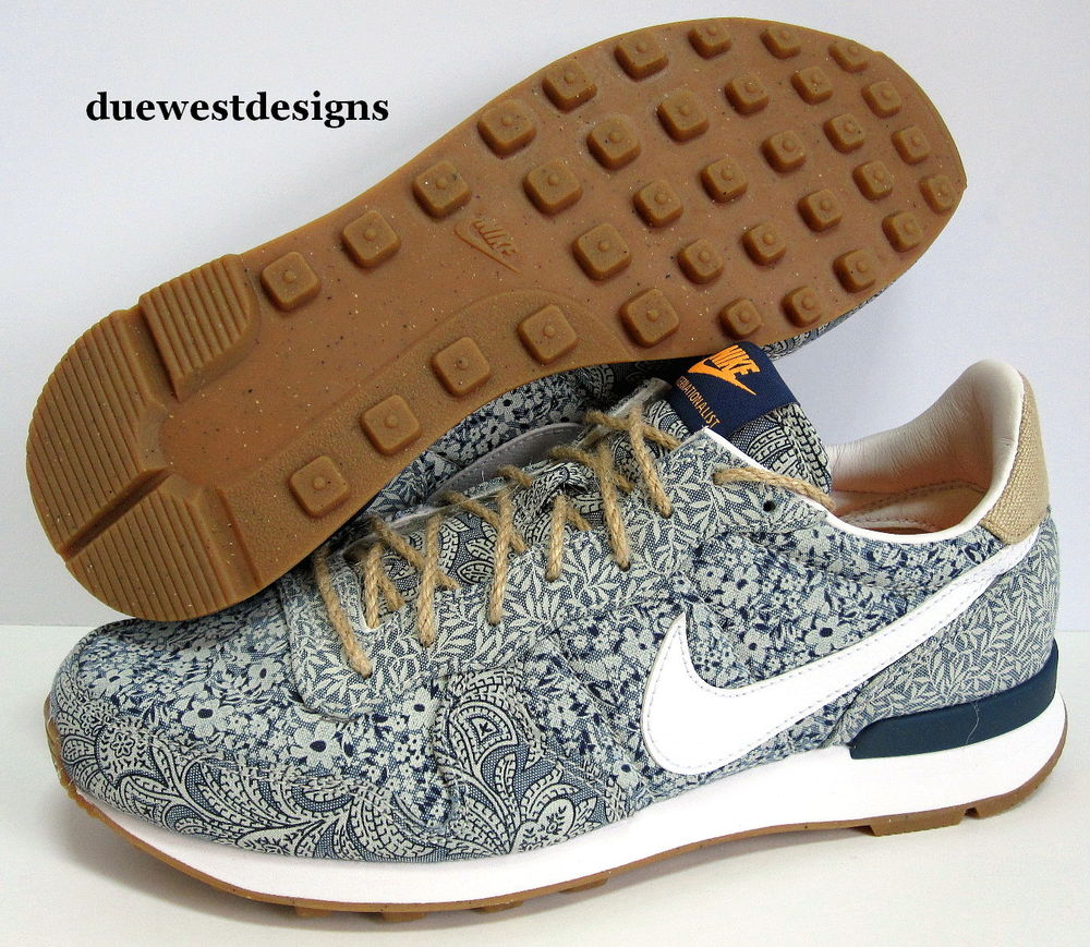save off f2cf9 370a8 NIKE LIBERTY OF LONDON INTERNATIONALIST 6-- 9 BLUE FLORAL HE