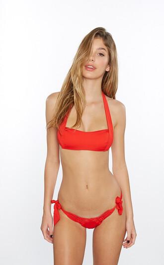 swimwear best seller bikini bottoms cheeky crochet frankies bikini red skimpy red bikini bikiniluxe