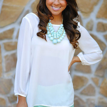 I Love You So Blouse: White | Hope's on Wanelo