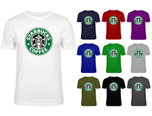 Mens Starbucks Coffee Green Logo Slogan Top T-shirt NEW S-XXL | eBay