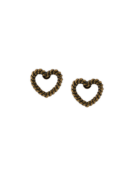 Marc Jacobs heart women earrings stud earrings grey metallic jewels