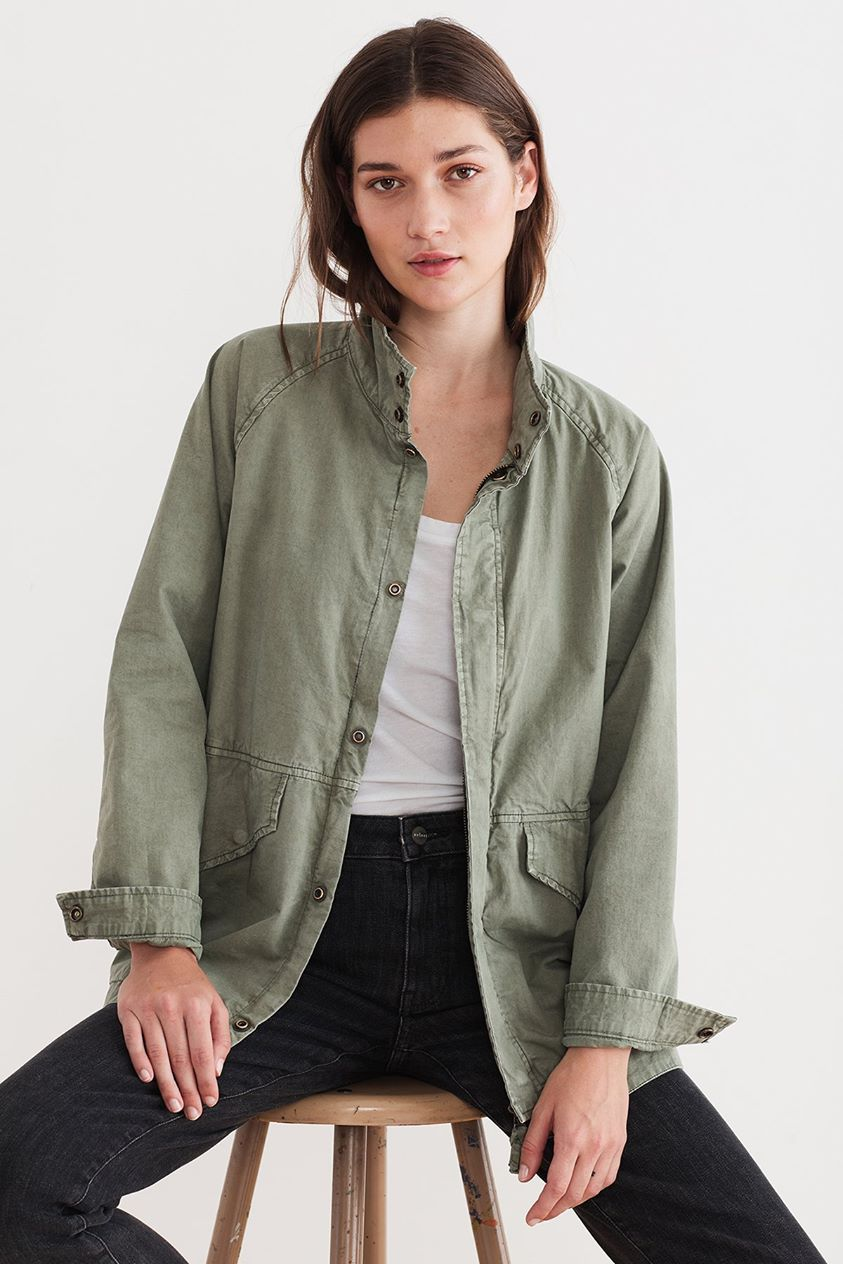 BECKY COTTON TWILL JACKET