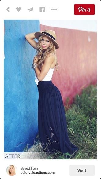 skirt blue navy blue skirt maxi skirt