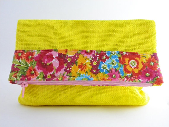 LAST ONE/SALE  Spring Blooms Statement Clutch by lovecortnie