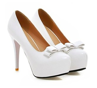 shoes white heels bows heels