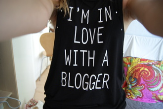 clothes blog blogger tank top white black love black tank top quote on it textured top black and white tumblr love quotes