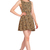 ROMWE V Back Cutout Leopard Dress
