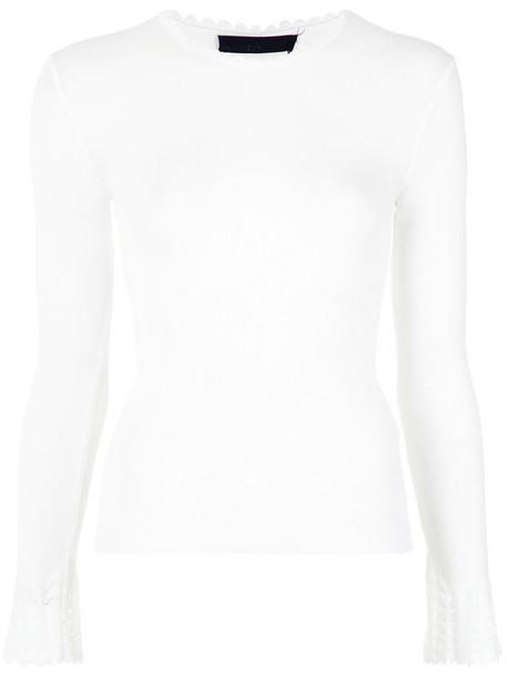 Nk - knit blouse - women - Viscose - G, White, Viscose