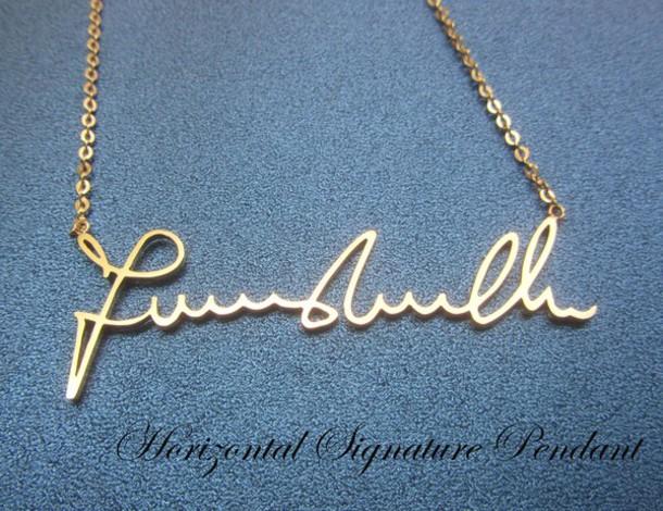 Jewels signature signature necklace signature pendant horizontal like follow aloadofball Choice Image