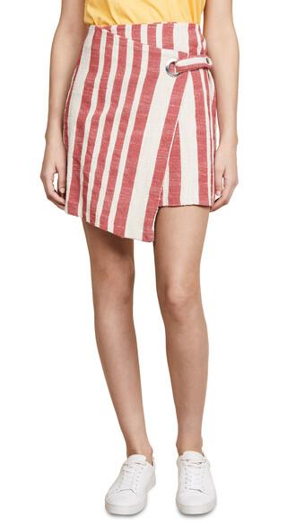 skirt wrap skirt red