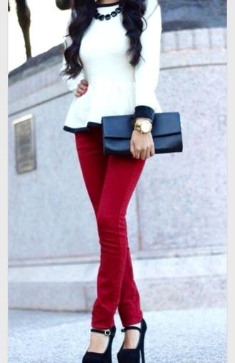 white blouse blouse long sleeves