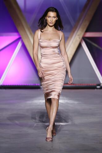 dress midi dress bodycon dress bustier dress bella hadid model runway cannes