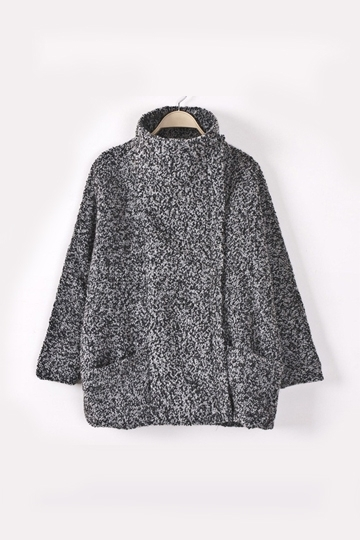 Cotton Padded Woolen Winter Coat [FEBK0314] - PersunMall.com