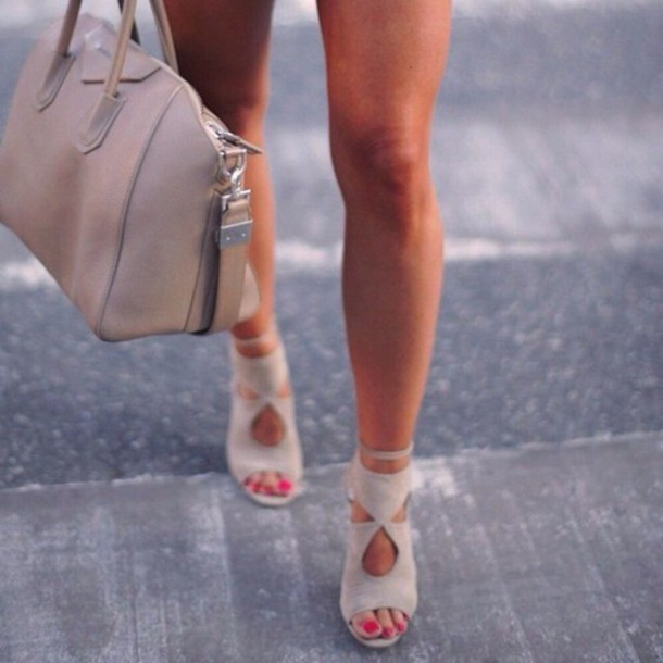 shoes want now sooo prettyyy style perfecto cream high heels