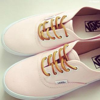 shoes pink vans nice laces white pink vans baby pink pastel sneakers
