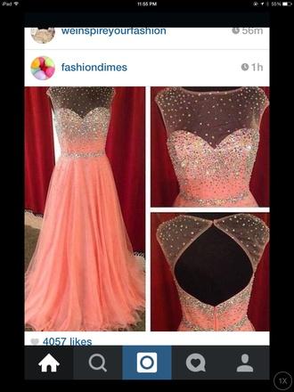 dress prom prom dress pink pink dress rhinestones posh elegant pretty