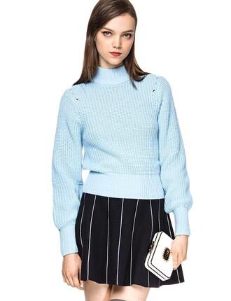 sweater slouchy sweater blue sweater mock neck turtleneck boyfriend sweater turtleneck sweater pixie market pixie market girl