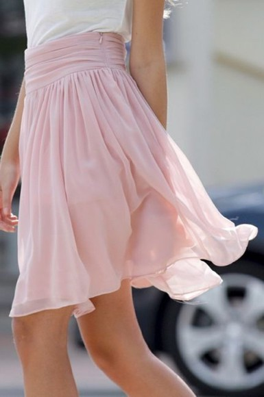 skirt pink flowy clothes fashion love adorable pink skirt long elegant chiffon chiffon skirt sheer pinterest summer rose rose skirt