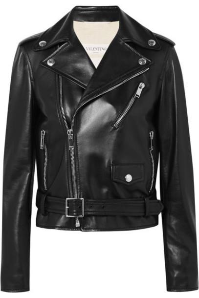 Valentino jacket biker jacket leather black