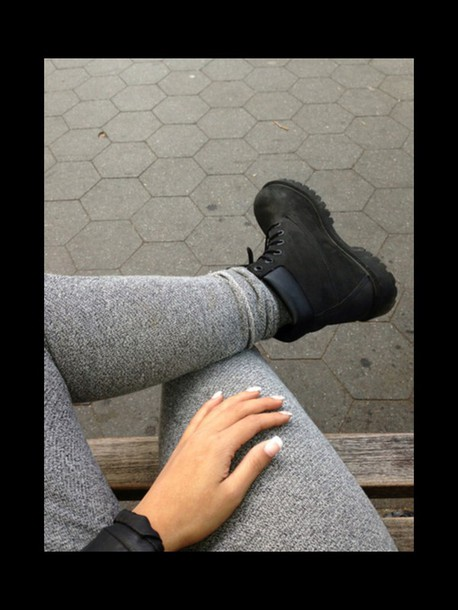 pants black timberlands dope joggers grey sweatpants timberland charcoalgrey leather jacket