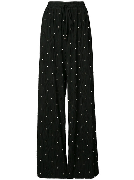 Prabal Gurung embroidered women pearl black pants
