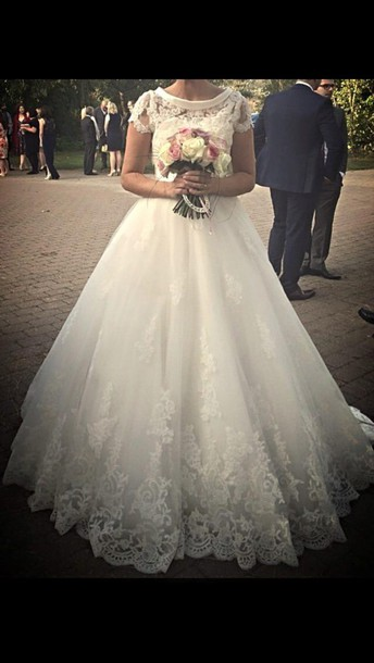 dress vintage dress flowers wedding dress lace dress