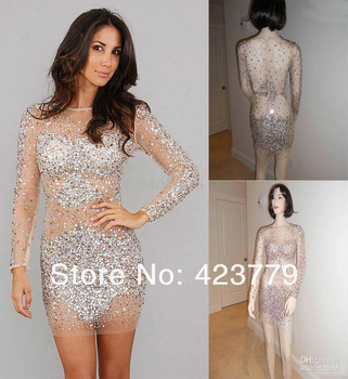 Aliexpress.com : Buy On Sale Beading Nude Back Jewel Mermiad Evening Dress Long Sleeveless Prom Pageant Dress Custom Made TE92092 from Reliable dress women suppliers on 27 Dress
