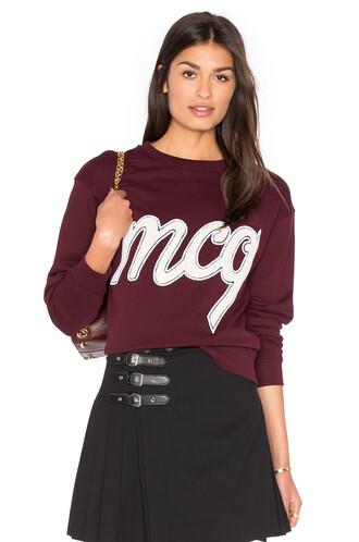 sweatshirt classic burgundy sweater