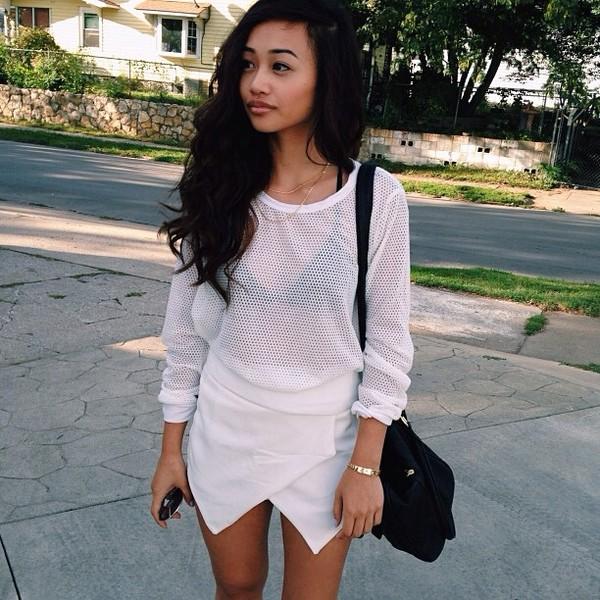 blouse shirt white dress skirt